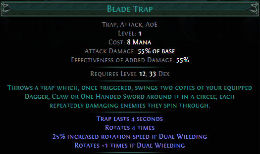 Blade Trap PoE