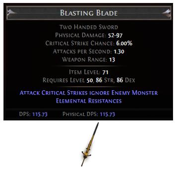 Blasting Blade
