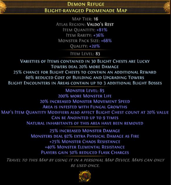 Blight-Ravaged Map PoE