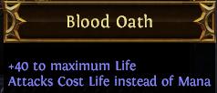 Blood Oath PoE