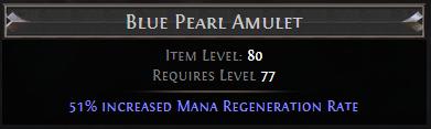 Blue Pearl Amulet