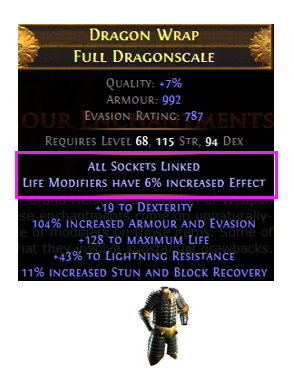 Body Armour Enchantments Example