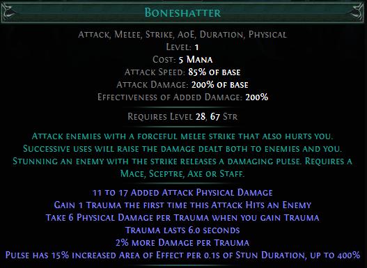Boneshatter PoE