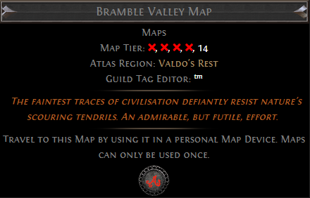 Bramble Valley Map