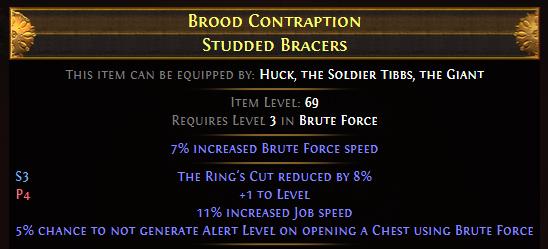 Brood Contraption Studded Bracers