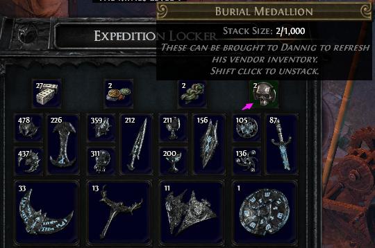 Burial Medallion PoE