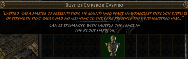 Bust of Emperor Caspiro