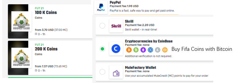 Buy Fifa Coins with Bitcoin