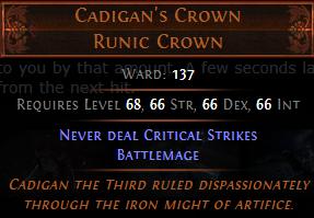 Cadigan's Crown PoE