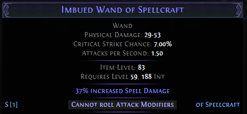 Cannot roll Attack Mods PoE