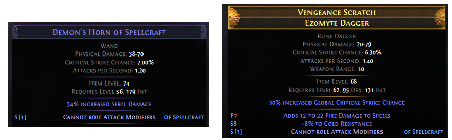Cannot roll Attack Mods