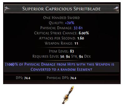 Capricious Spiritblade