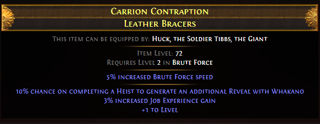 Carrion Contraption Leather Bracers