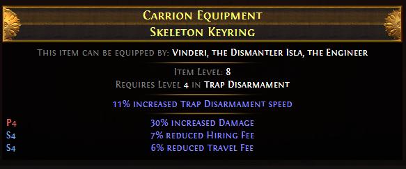 Carrion Equipment Skeleton Keyring