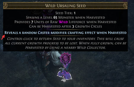 Caster Modifiers Harvest