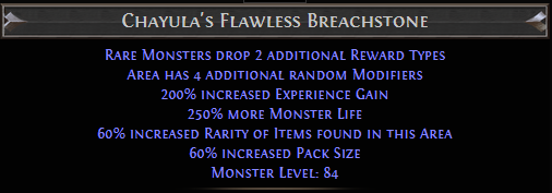 Chayula's Flawless Breachstone PoE