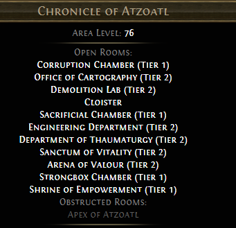 Chronicle of Atzoatl PoE