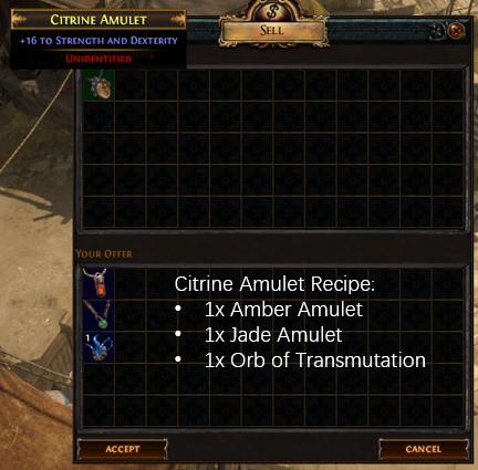 Citrine Amulet Recipe