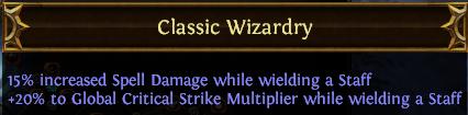 Classic Wizardry PoE