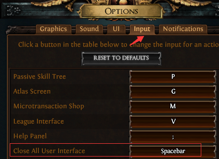 Close All User Interface PoE