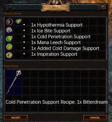 Cold Penetration Support Recipe