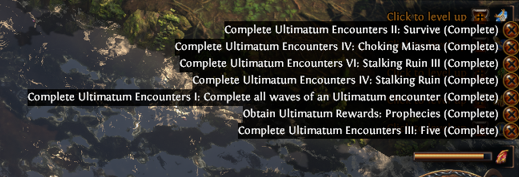 Complete Ultimatum Encounters