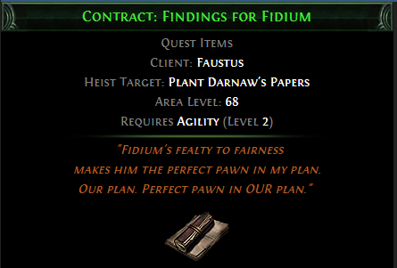 Contract: Findings for Fidium