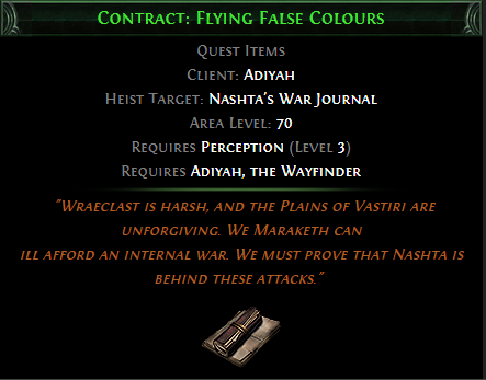 Contract: Flying False Colours