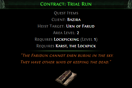 Contract: Trial Run
