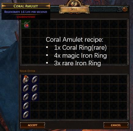 Coral Amulet Recipe