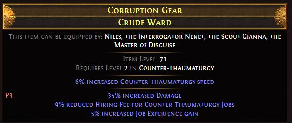 Corruption Gear Crude Ward