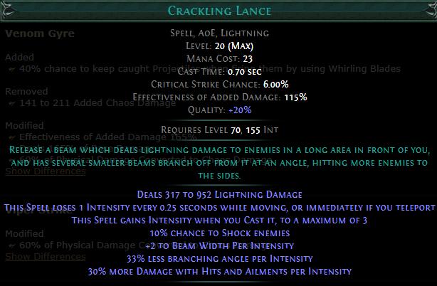 Crackling Lance Gem