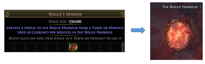 create a portal to Rogue Harbour