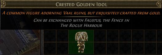 Crested Golden Idol