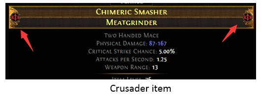 Crusader item