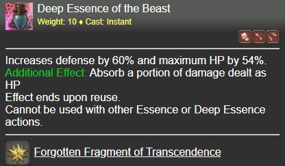 Deep Essence of the Beast FFXIV