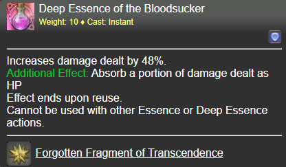 Deep Essence of the Bloodsucker FFXIV