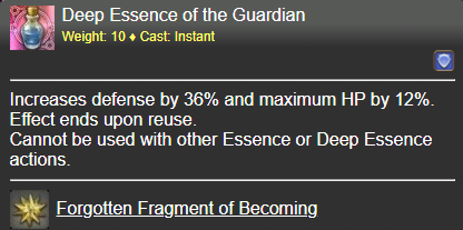 Deep Essence of the Guardian FFXIV