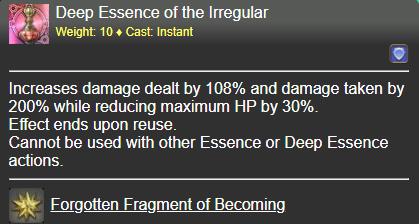 Deep Essence of the Irregular FFXIV