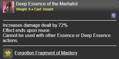 Deep Essence of the Martialist FFXIV