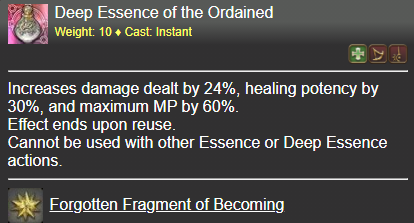 Deep Essence of the Ordained FFXIV