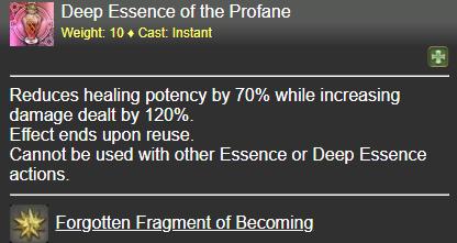 Deep Essence of the Profane FFXIV