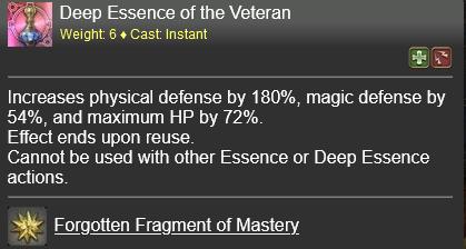 Deep Essence of the Veteran FFXIV