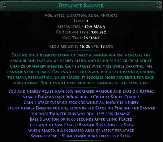 Defiance Banner PoE