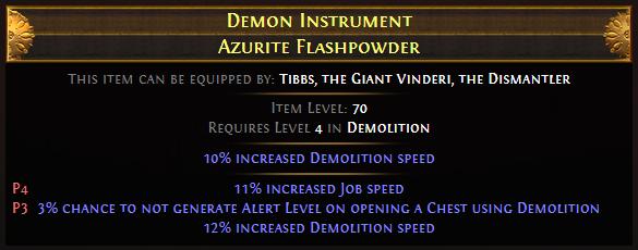 Demon Instrument Azurite Flashpowder