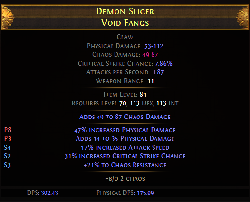Demon Slicer Void Fangs