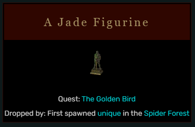 Diablo 2 A Jade Figurine