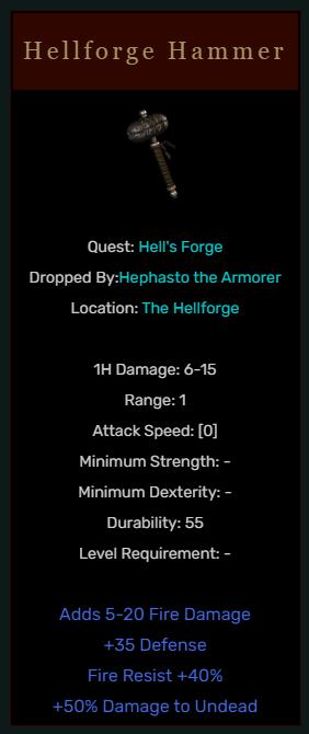 Diablo 2 Hellforge Hammer