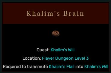 Diablo 2 Khalim's Brain