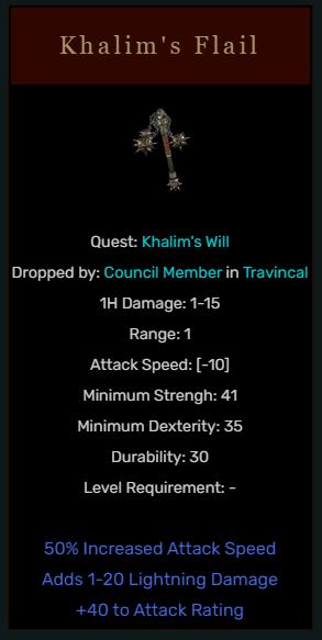 Diablo 2 Khalim's Flail